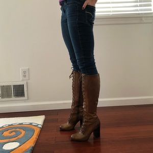 Frye Parker lace-up tall boots